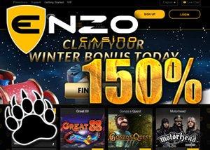 150% Match Bonus Enzo Casino