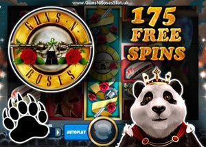 175 Free spins from Royal Panda casino to celebrate the GNR online slot release from Net Ent
