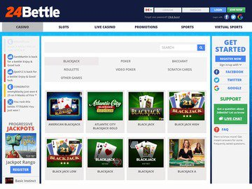 24Bettle Casino Homepage Preview