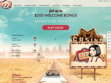 777 Casino Homepage Preview