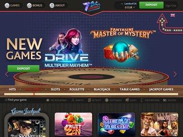 7bit Casino Homepage Preview
