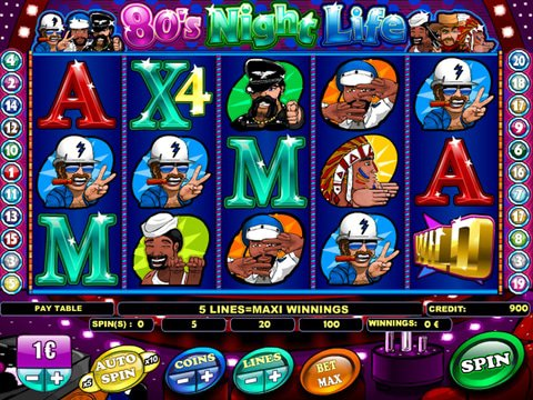 Try The No Download 80s Night Life Slots Here