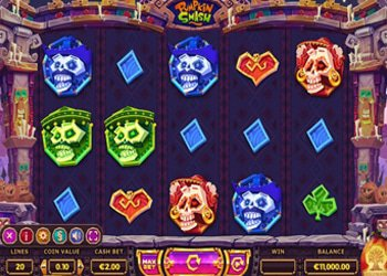Pumpkin Smash Halloween Slot Machine 2017