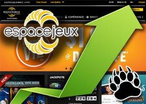 Online Casino Revenue Increases at eSpaceJeux