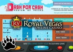 royal vegas dash for cash casino promotion