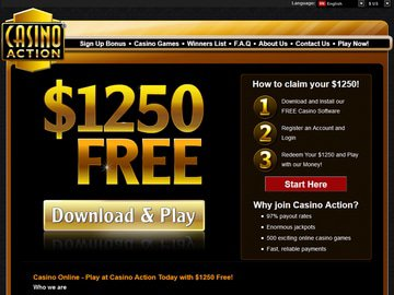 Action Casino Homepage Preview