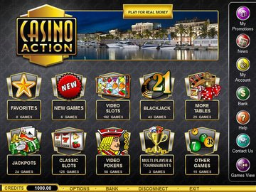 Action Casino Software Preview