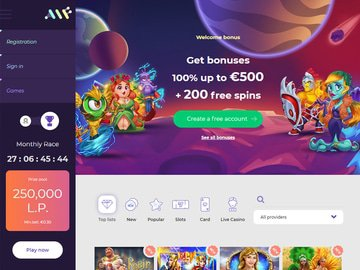 Alf Casino Homepage Preview