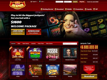 All Jackpots Casino Homepage Preview