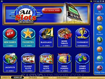 All Slots Casino Software Preview