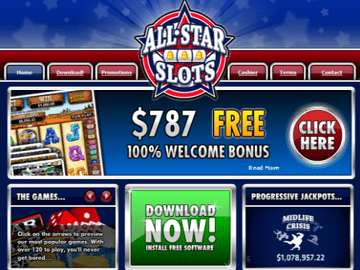 All Star Slots Casino Homepage Preview