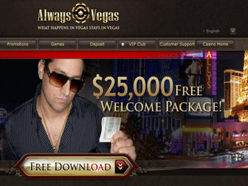 Always Vegas Casino Homepage Preview