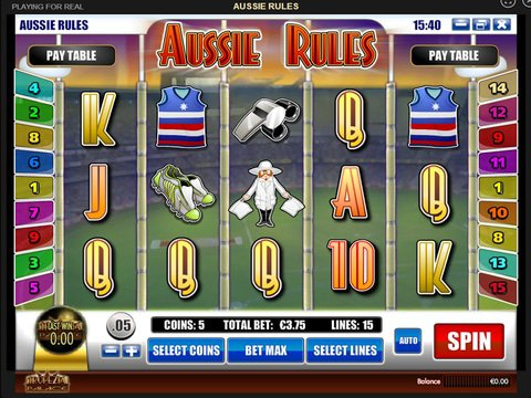 Play Aussie Rules Slot Machine Free With No Download