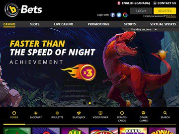 b-Bets Casino Homepage Preview