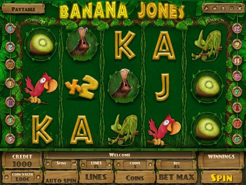 Try the Banana Jones Slots Here with No Download