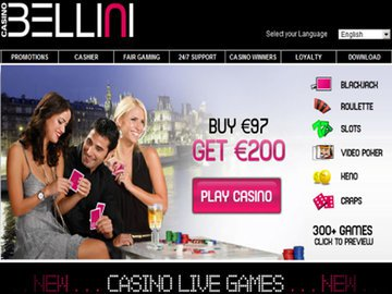 Bellini Casino Homepage Preview