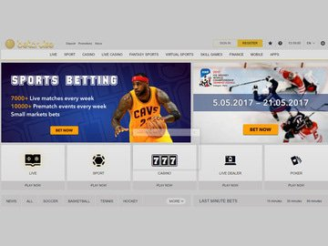 Bet Cruise Casino Homepage Preview
