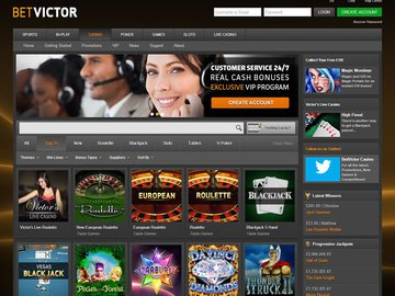 Bet Victor Casino Homepage Preview