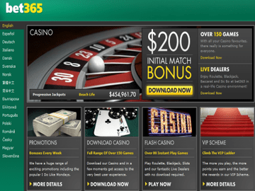 Bet365 Homepage Preview