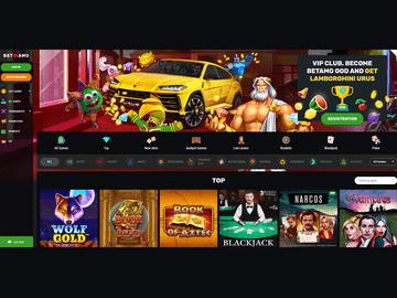 Betamo Casino Homepage Preview