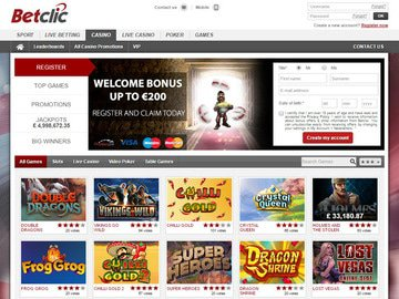 Betclic Casino Homepage Preview