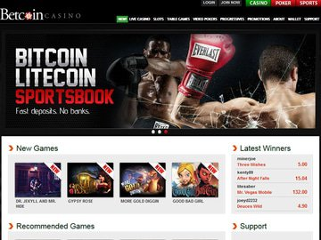 Betcoin Casino Homepage Preview