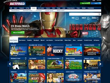 Betfred Casino Homepage Preview