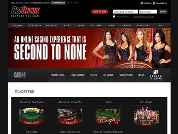 Betonline Casino Homepage Preview