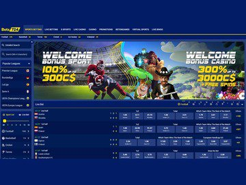 Bets724 Sportsbook Homepage Preview