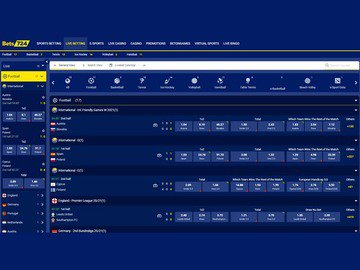 Bets724 Sportsbook Software Preview