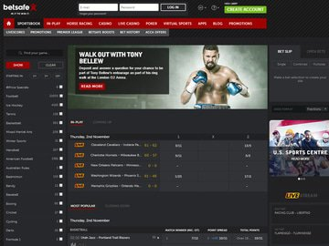 Betsafe Homepage Preview