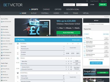 BetVictor Homepage Preview