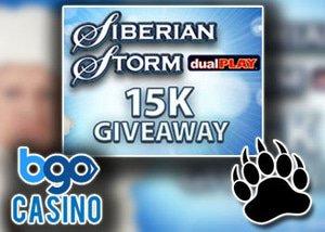 bgo prize pool 15000 siberian storm slot
