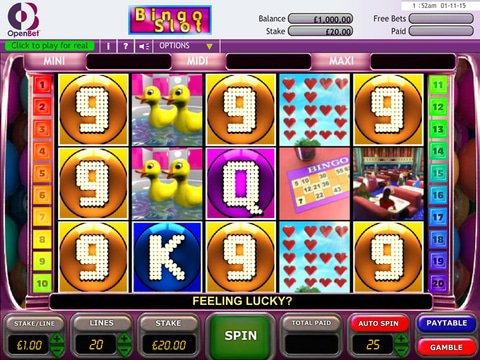Play Five Reel Bingo Slot Machine Free With No Download