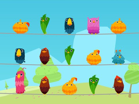 Birds On A Wire Game Preview