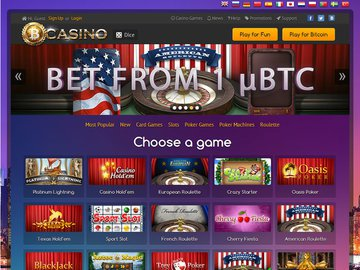 Bit Casino Homepage Preview