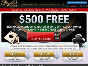 Blackjack Ballroom Casino Homepage Preview