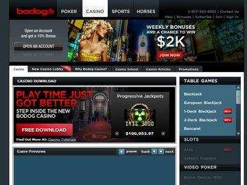 Bodog Casino Software Preview