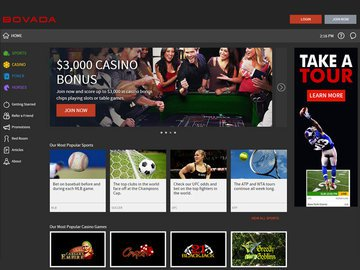 Bovada Homepage Preview