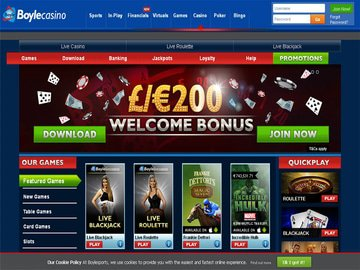 Boyle Casino Homepage Preview