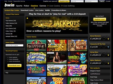 Bwin Casino Homepage Preview