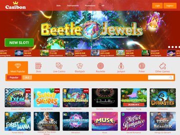 Casibon Casino Homepage Preview
