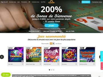 Casimba Casino Homepage Preview