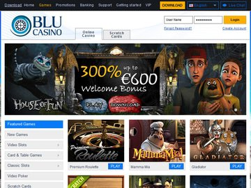 Casino Blu Homepage Preview