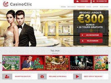 Casino Clic Homepage Preview