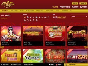 Casino Crazy Fortune Software Preview
