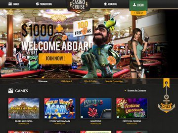 Casino Cruise Homepage Preview
