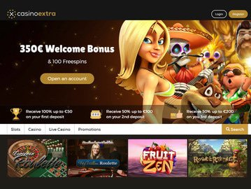 Casino Extra Homepage Preview