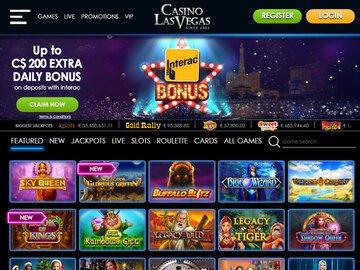 Casino Las Vegas Homepage Preview