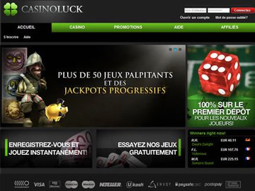 Casino Luck Homepage Preview